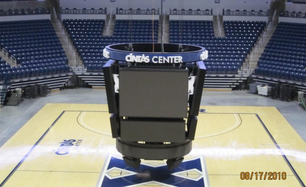 2.Center hung display with led video and scoring panels